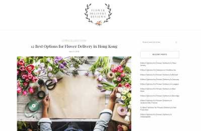 Flower Delivery Review Listing